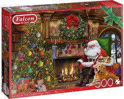 Falcon puzzel Santa by the Fireplace