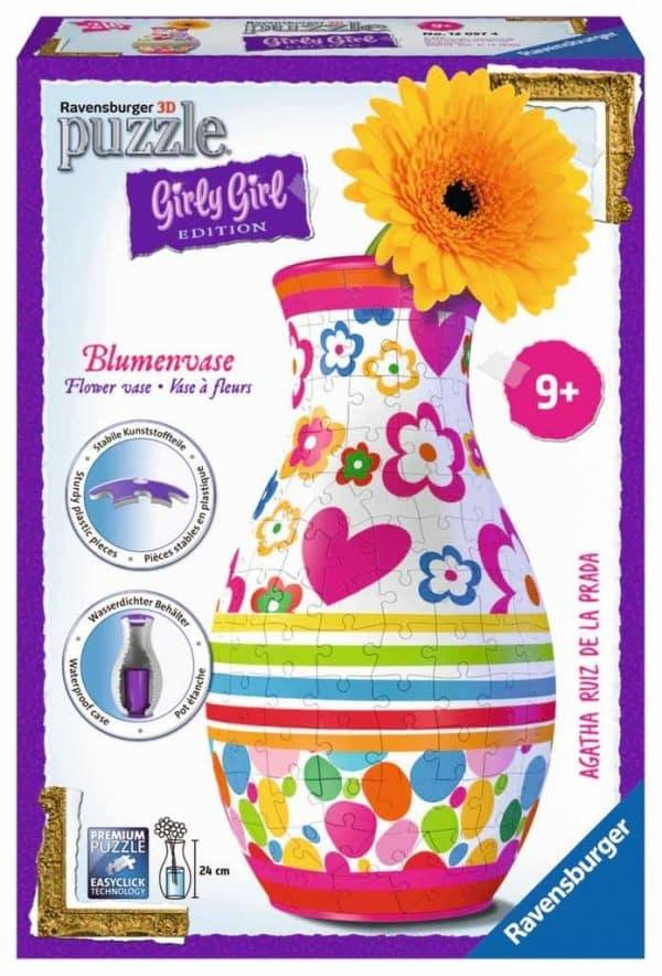 3d Puzzel Bloemenvaas Girly Girl Ravensburger120574 01 Kinderpuzzels.nl .jpg
