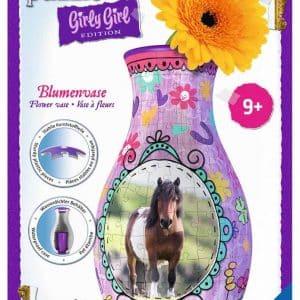 3d Puzzel Bloemenvaas Paarden Girly Girl Ravensburger120529 01 Kinderpuzzels.nl .jpg