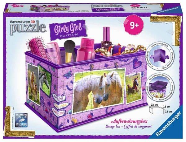 3d Puzzel Opbergdoos Paarden Girly Girl Ravensburger120727 01 Kinderpuzzels.nl .jpg