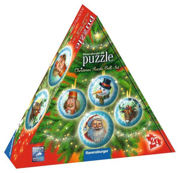 puzzel bal kerst sneeuwpop kerstman rudolph