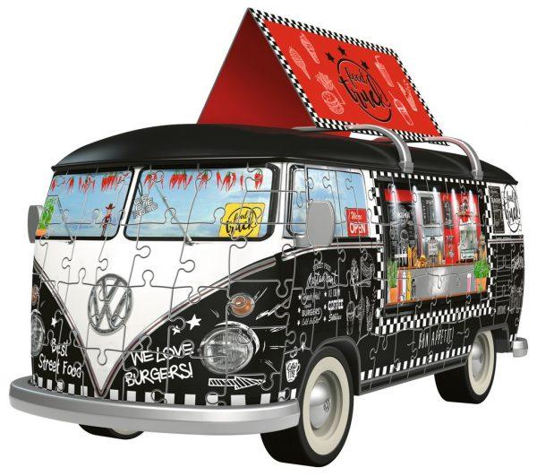 3d puzzel volkswagen bus food truck eten