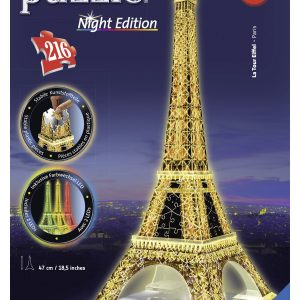 3d puzzel eiffeltoren parijs nacht night edition