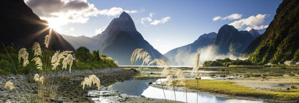 landschap bergen water