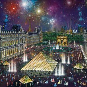 Alexander Chen Vuurwerk Louvre Schmidt