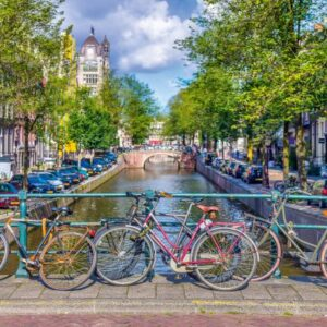 Amsterdamse Gracht Fietsen Schmidt Puzzel
