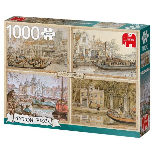 Anton Pieck Canal Boats Jumbo Legpuzzels