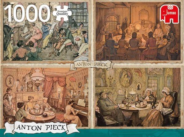 Anton Pieck Entertainment In The Livingroom Jumbo18856 01 Legpuzzels.nl