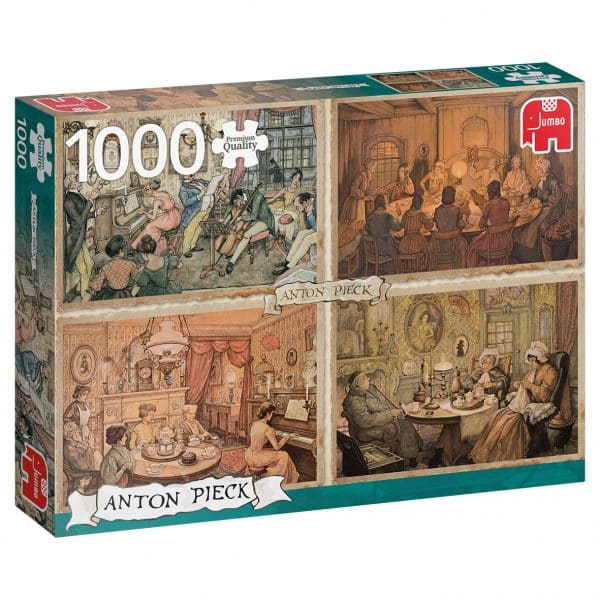 Anton Pieck Entertainment In The Livingroom Jumbo18856 03 Legpuzzels.nl