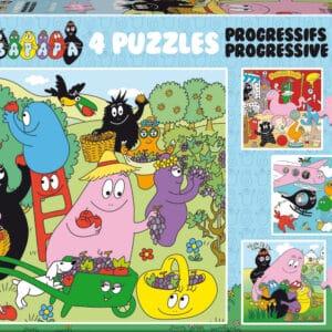 barbapapa 4 puzzles educa19094 02 legpuzzels