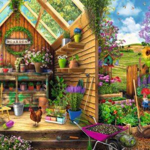 blik in het tuinhuis 16787 ravensburger 2