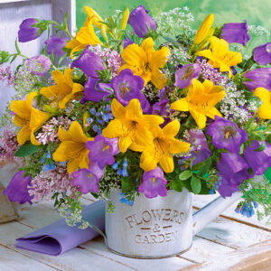 bouquet of lilies and bellflowers 104642 1 castorland