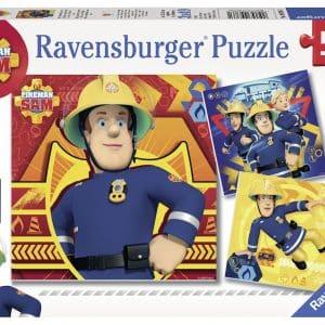Brandweerman Sam Bij Gevaar Sam Roepen Ravensburger093861 01 Kinderpuzzels.nl .jpg
