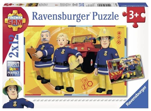 Brandweerman Sam Sam Aan Het Werk 2x12 Ravensburger075843 01 Kinderpuzzels.nl .jpg