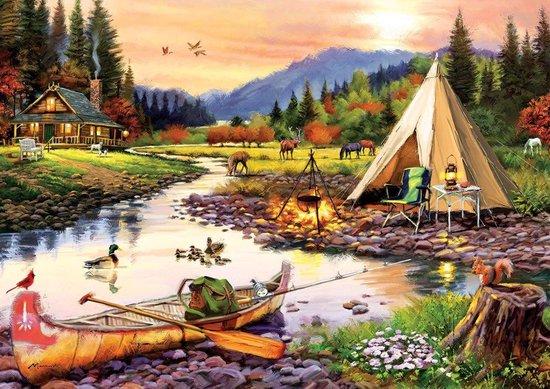 Camping Vrienden Art Legpuzzels