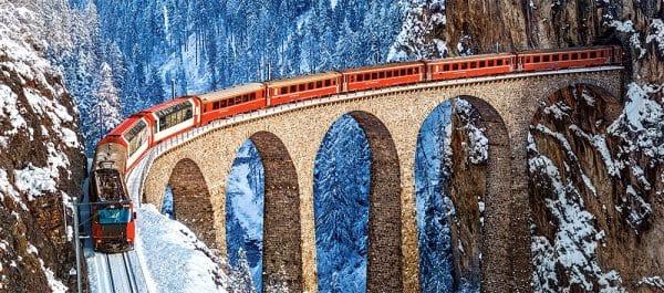 Castorland060016 Landwasser Viaduct Swiss Alps 01 Legpuzzels