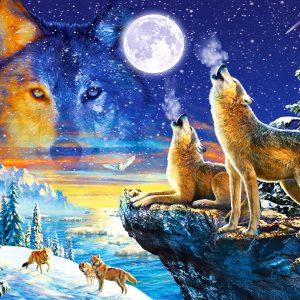 Castorland103317 2 Howling Wolves 01 Legpuzzels