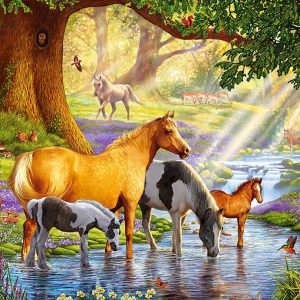 Castorland103737 2 Horses By The Stream 01 Legpuzzels