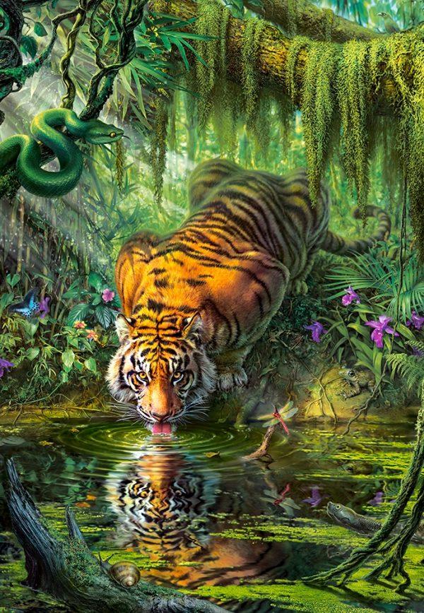 Castorland Tiger In The Jungle Tijger Legpuzzels