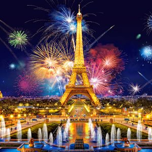 Castorland Glamour Of The Night Paris Parijs Eiffeltoren Legpuzzels