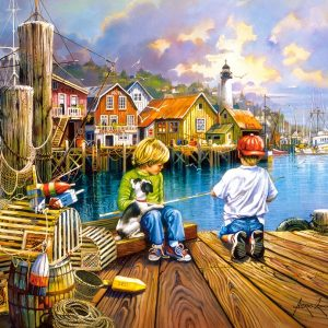 Castorland104192 2 At The Dock 01 Legpuzzels
