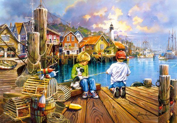 Castorland104192 2 At The Dock 01 Legpuzzels