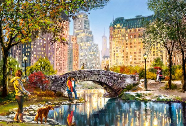 Castorland104376 2 Evening Walk Through Central Park 01 Legpuzzels