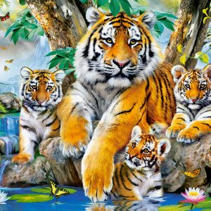Castorland104413 2 Tigers By The Stream 01 Legpuzzels