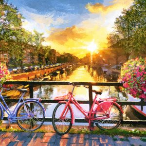 Castorland104536 2 Picturesque Amsterdam With Bicycles 01 Legpuzzels