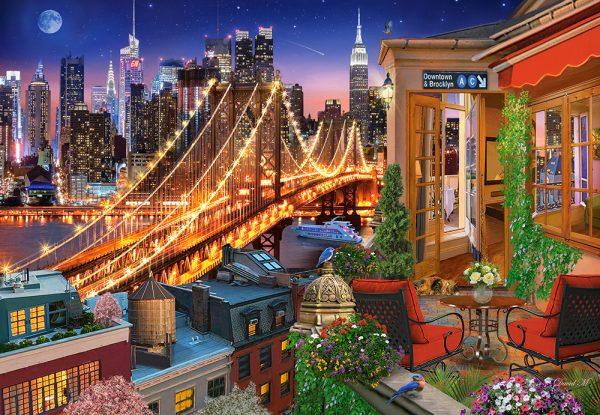 Castorland104598 2 Brooklyn Bridge Lights 01 Legpuzzels