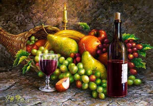 Castorland104604 2 Fruit And Wine 01 Legpuzzels