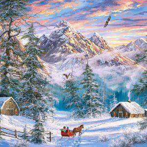 Castorland104680 2 Mountain Christmas 01 Legpuzzels