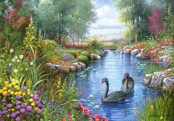 Castorland151042 2 Black Swans Andres Orpinas 01 Legpuzzels