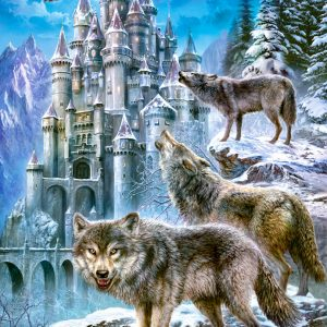 Castorland151141 2 Wolves And Castle 01 Legpuzzels