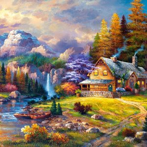 Castorland151462 2 Mountain Hideaway 01 Legpuzzels
