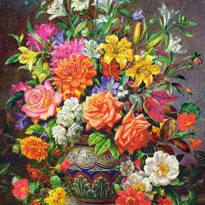 Castorland151622 2 September Flowers 01 Legpuzzels