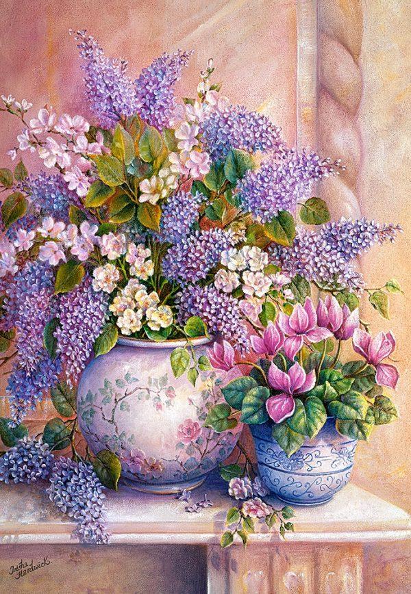 Castorland151653 2 Lilac Flowers 01 Legpuzzels