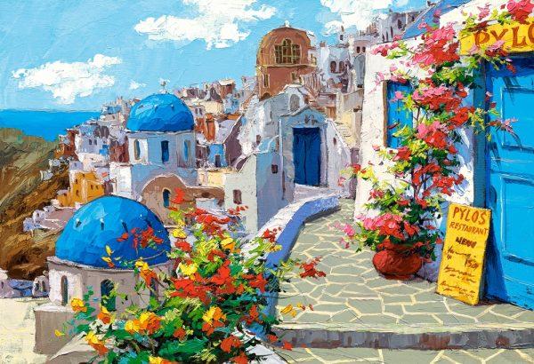 Castorland200603 2 Spring In Santorini 01 Legpuzzels