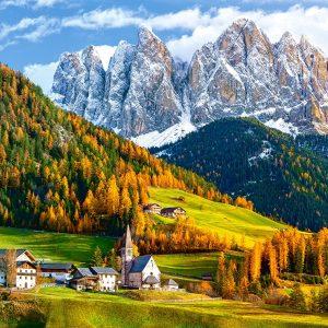 Castorland200610 2 Church Of St. Magdalena Dolomites 01 Legpuzzels