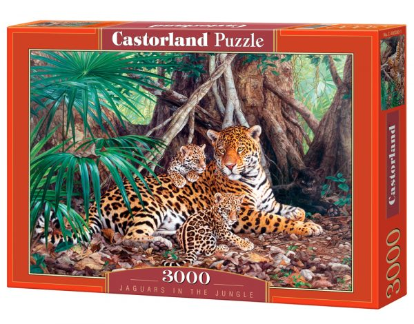 Castorland300280 2 Jaguars In The Jungle (limited Distribution!) 02 Legpuzzels