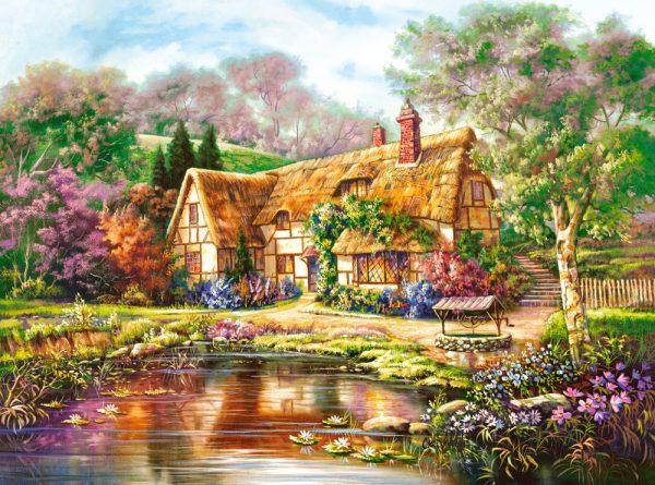 Castorland300365 2 Twilight At Woodgreen Pond 01 Legpuzzels