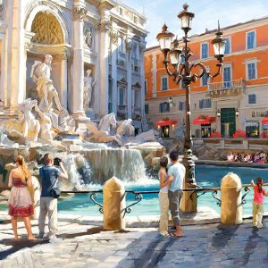 Castorland300389 2 The Trevi Fountain 01 Legpuzzels