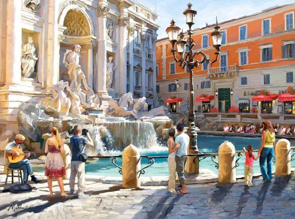 Castorland300389 2 The Trevi Fountain 01 Legpuzzels