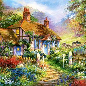 Castorland300402 2 Forrest Cottage 01 Legpuzzels
