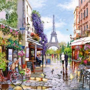 Castorland300525 2 Flowering Paris 01 Legpuzzels
