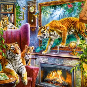 Castorland300556 2 Tigers Coming To Life 01 Legpuzzels