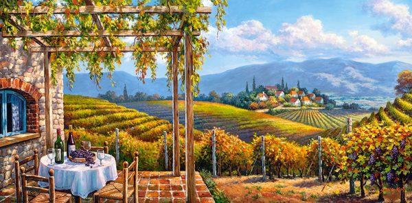 Castorland400249 2 Vineyard Village 01 Legpuzzels