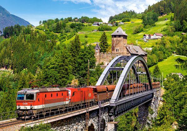 Castorland52462 Train On The Bridge 01 Legpuzzels