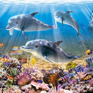 Castorland52547 Dolphins Underwater 01 Legpuzzels