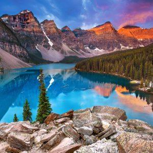 Castorland53001 Sunrise At Moraine Lake Canada 01 Legpuzzels